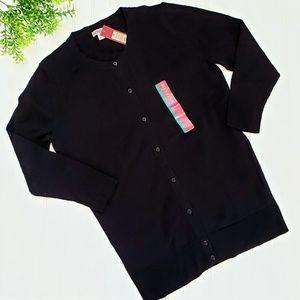 Merona Black Button Up Cardigan NWT size medium